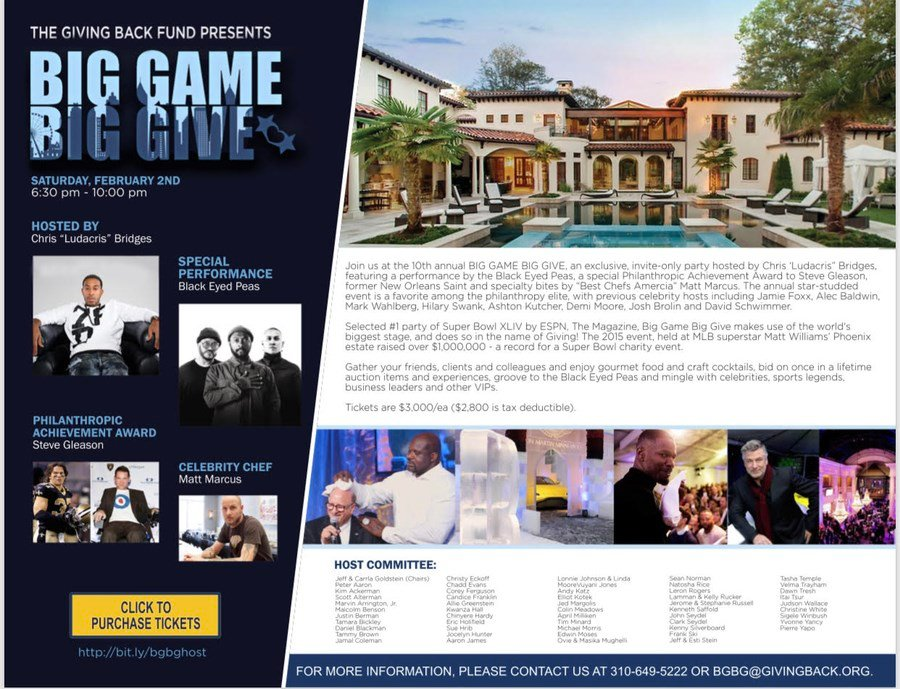 42ace46f3a6 Ludacris To Host Super Bowl LIII Largest Charity Event – Big Gam